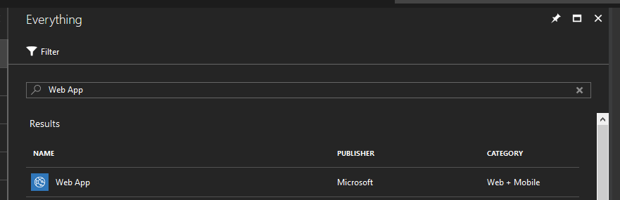 azure resource search ui